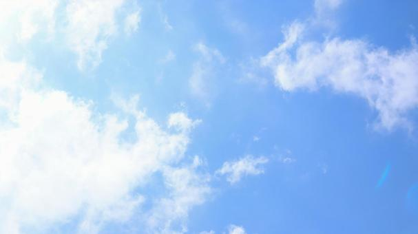 Background material of the gentle sky of blue sky and clouds