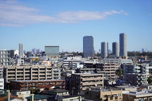 Scenery of Futakotamagawa Tower Mansion and Takatsu Ward, Kawasaki City, Kanagawa Prefecture