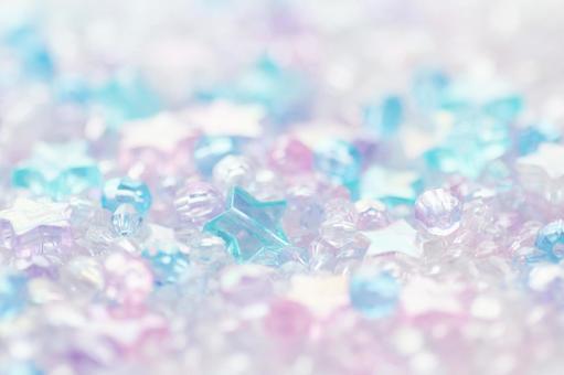 Glitter background of beads