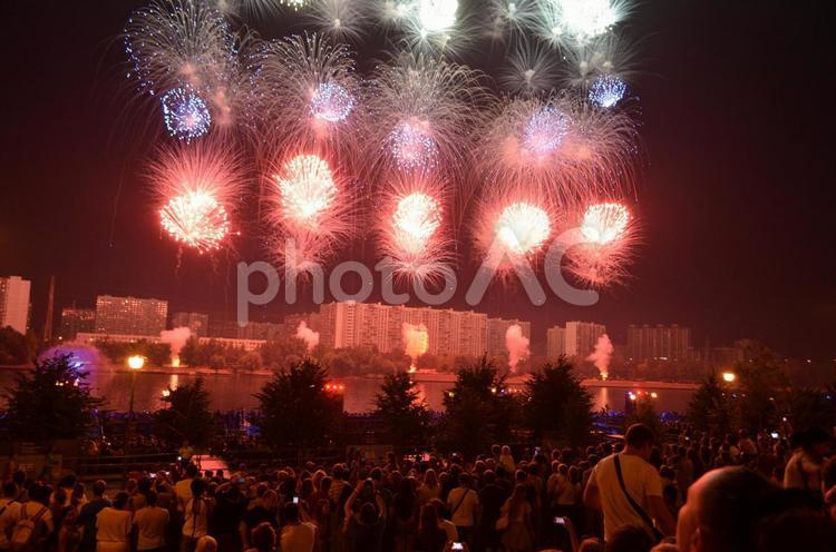 モスクワの花火大会の写真