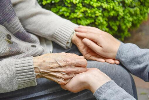 Elderly care / tactile care Dementia is alleviated just by touching
