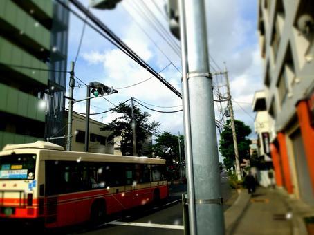 公共汽车通勤