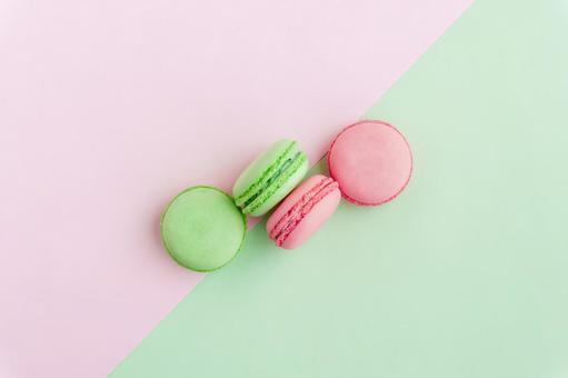Two-color macaron background