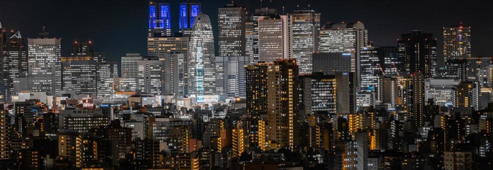 Night view of Shinjuku (taken from Bunkyo Civic Center)