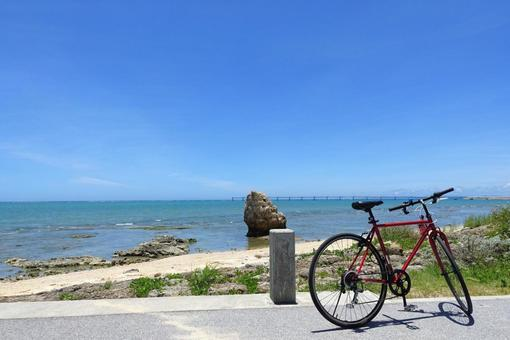 Sea and bicycle