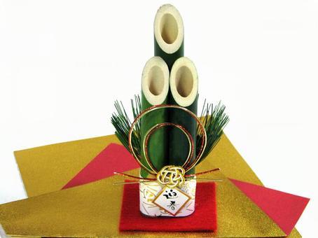 New Year's New Year's Cards Material New Year New Year's Kadomatsu Yadatsuki Ornament