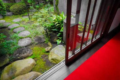 Scenery seen from the porch of a Japanese house