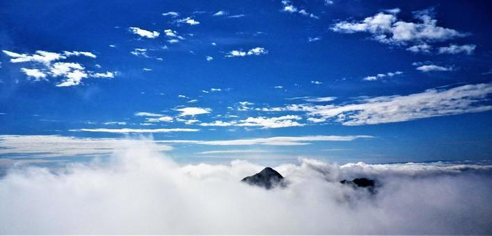 藍天和雲海