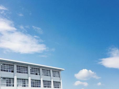 School school building background sky