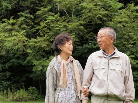 Senior couple in their 80s