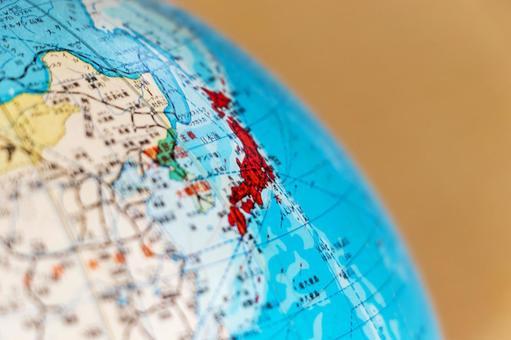 Japan in the globe