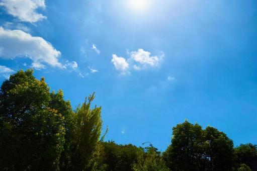 Sky sun blue sky