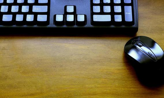 Keyboard and mouse desk image background