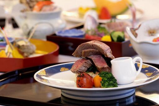 Japanese food steak