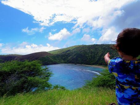 Hawaii Hanauma Bay and Child 1
