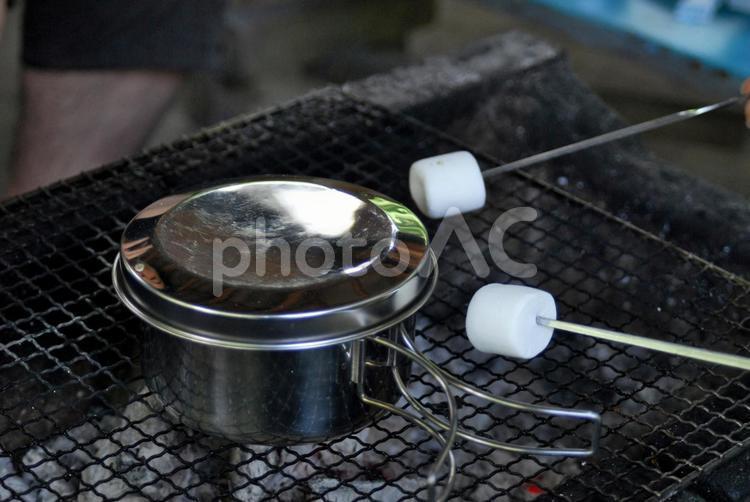 焼きマシュマロの写真