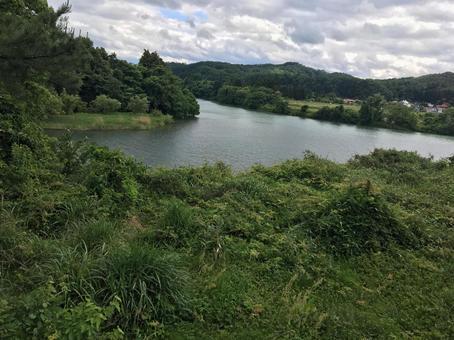 Confluence point of Tadami River, Aga River
