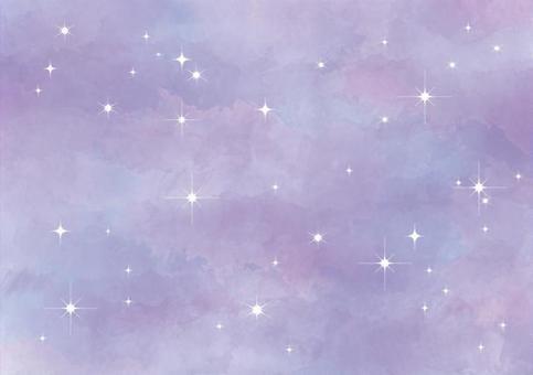紫色水彩星空背景