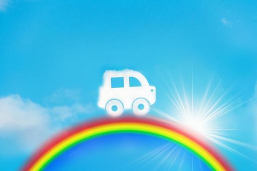 Cloud car and rainbow 2