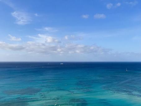 하와이의 바다