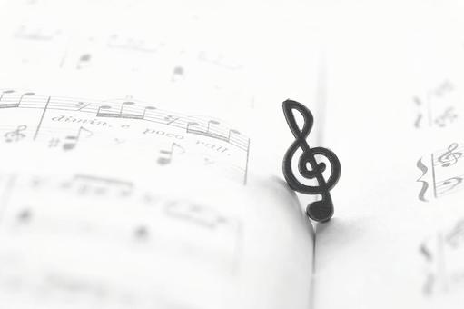 Treble clef sheet music musical note music image material