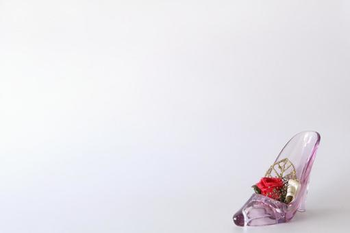 Glass shoe background
