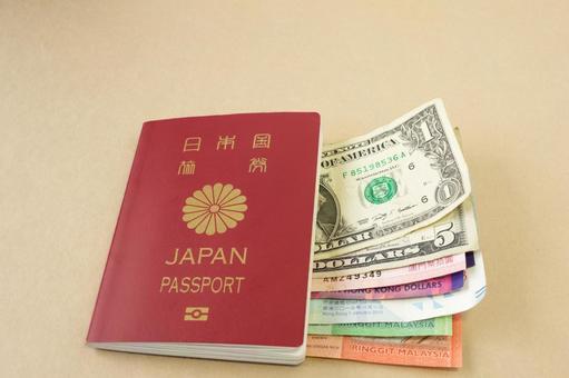 일본 여권 및 세계 통화
