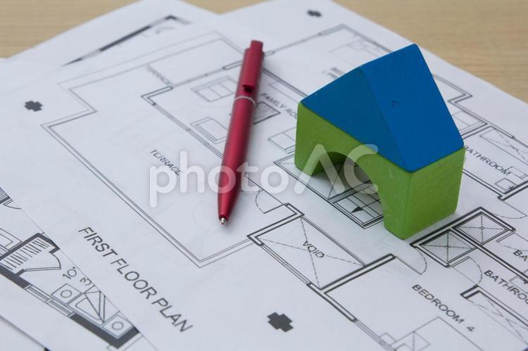 家の模型影85の写真