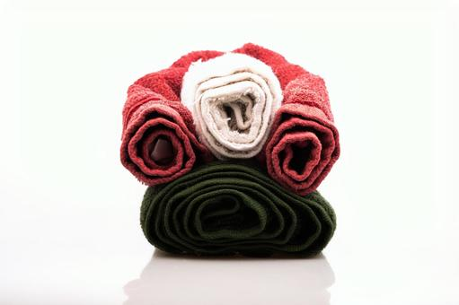 Towel piled completely