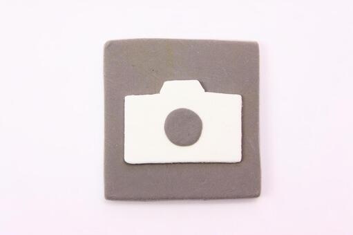 Clay art icon camera