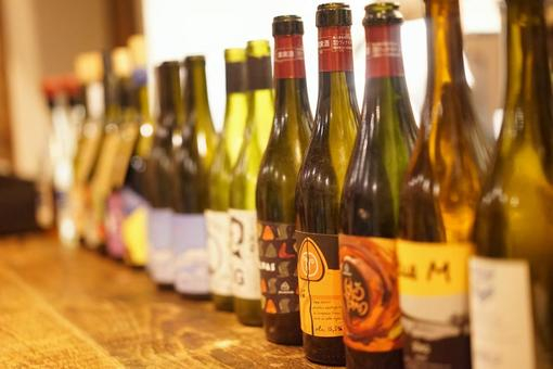 A row of wines