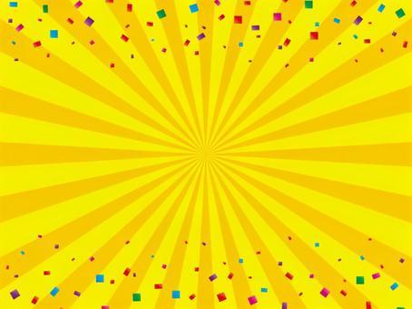 Yellow radial background (confetti)