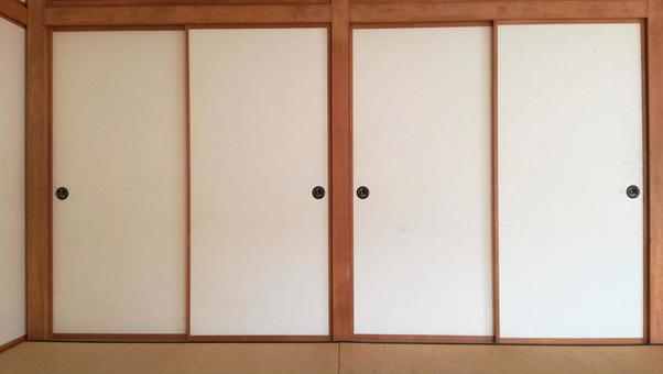 White Fusuma Japanese Style (Bran)
