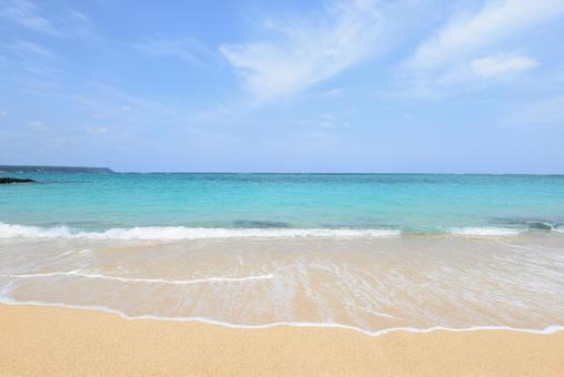 Okinawa beautiful sea white waves