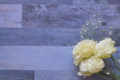 Wood grain background ash gray flower background frame texture