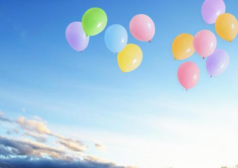 Sky and balloons