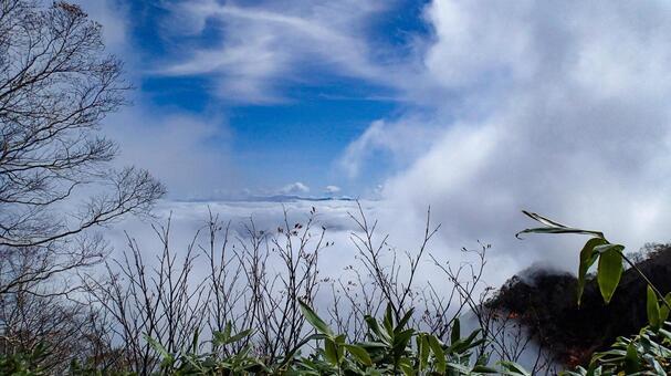 Sea of clouds seen from Mt. Myoko