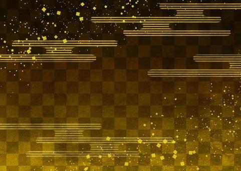 Kasumi checkered golden