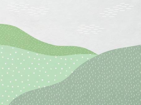 山地風景中現代日本紙的背景素材_日本青綠的花紋肌理
