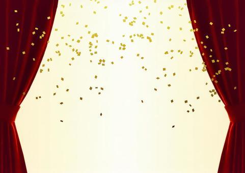 Curtain glitter red