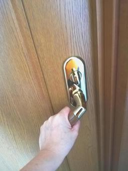 Hand to grab the handle