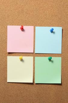 Cork board sticky notes 5