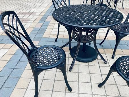 Open cafe terrace seats
