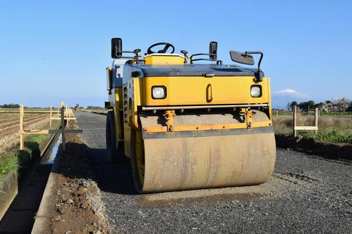 Road roller compaction machine