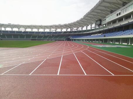 New track and field stadium