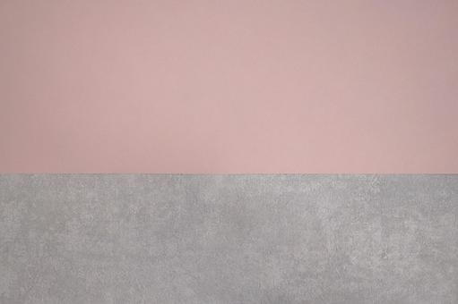 Concrete and pink two-tone background