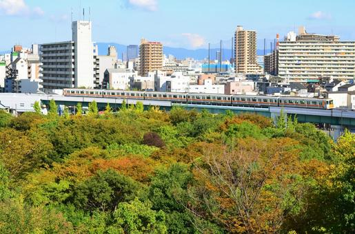오사카의 거리와 전철