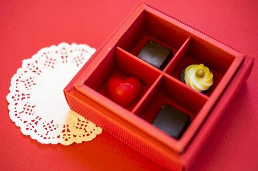 Valentine chocolate_red box