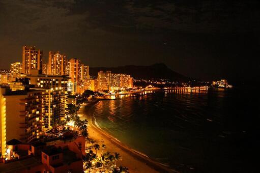 Night view of Hawaii