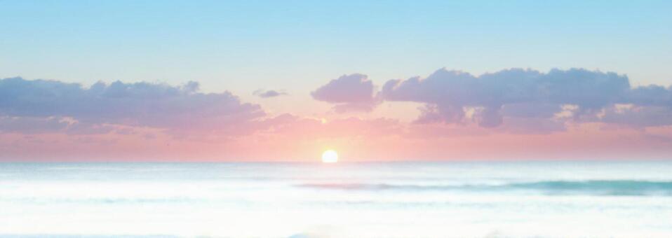 Morning mist sea, sunrise